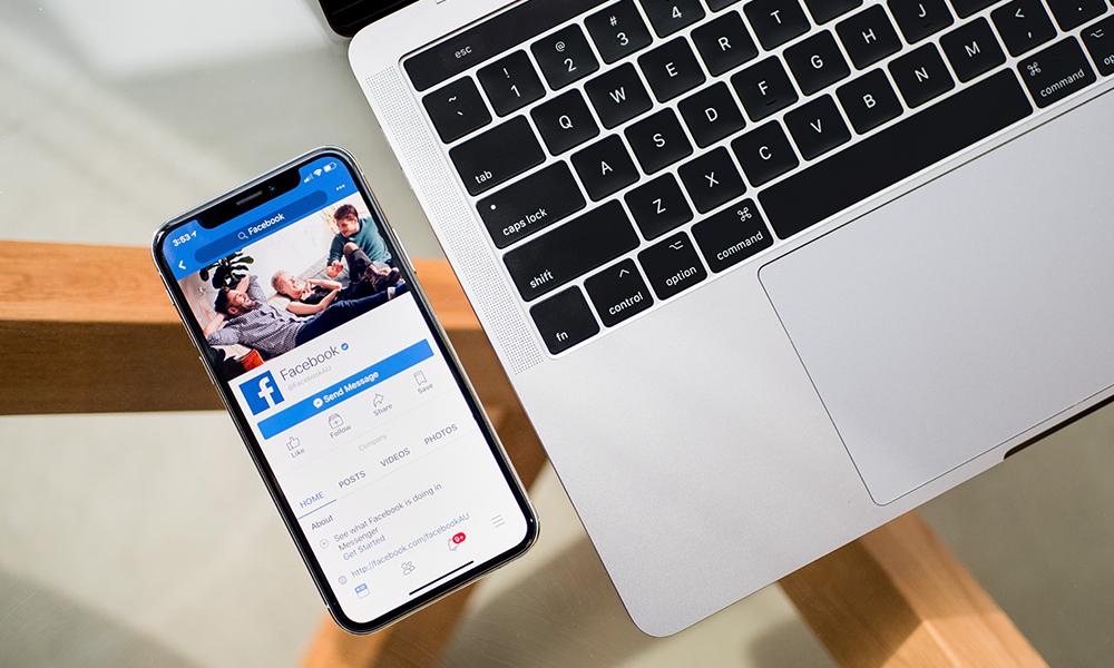smartphone showing Facebook